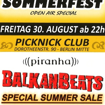 Balkan Beats Summer Party & Special Sale